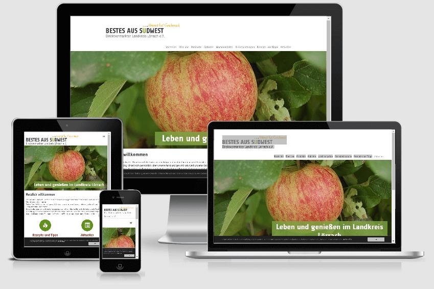 Screenshot der Website direktvermarkter-landkreis-loerrach.de