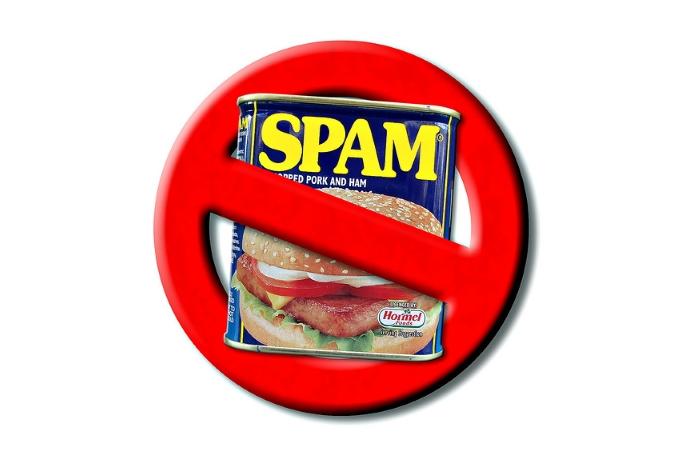 Verbotsschild Spam