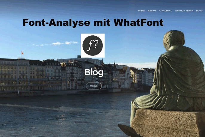 Screenshot Website urfocus.ch unter Verwendung eines Font-Analysetools