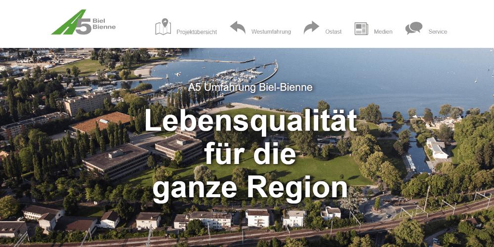 Screenshot Website a5-biel-bienne.ch
