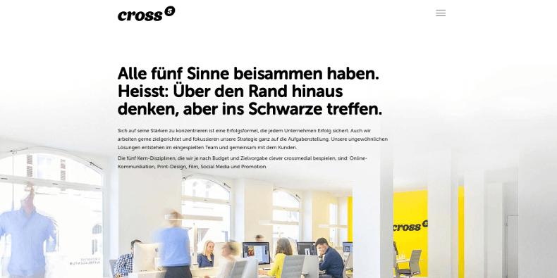 Website Crossfive Screenshot