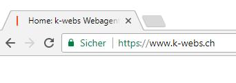 Hinweis sichere Website