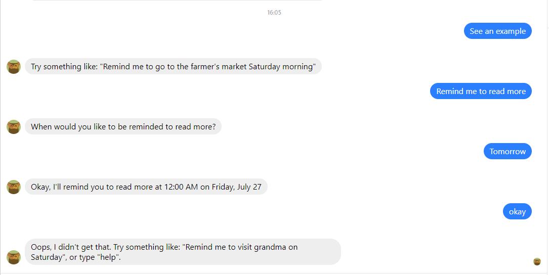 Verlauf einer Unterhaltung mit Chatbot Jarvis