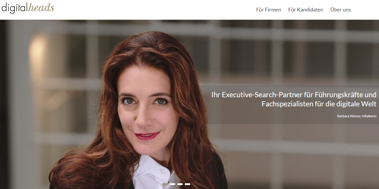 Screenshot Website digitalheads.ch