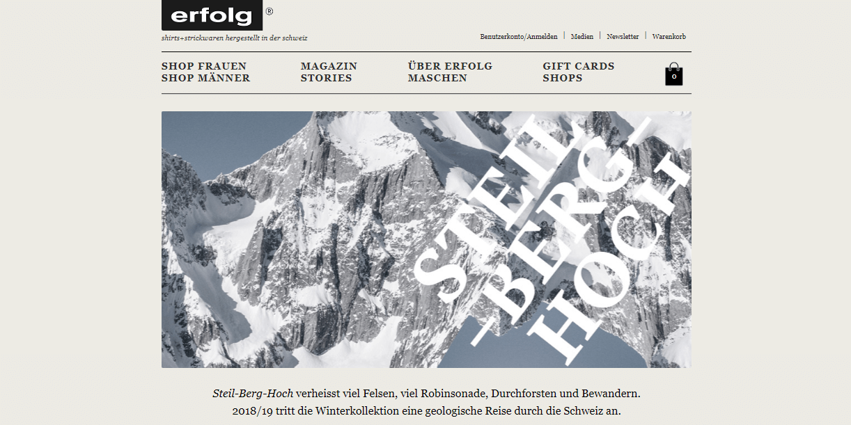 Screenshot Website erfolg