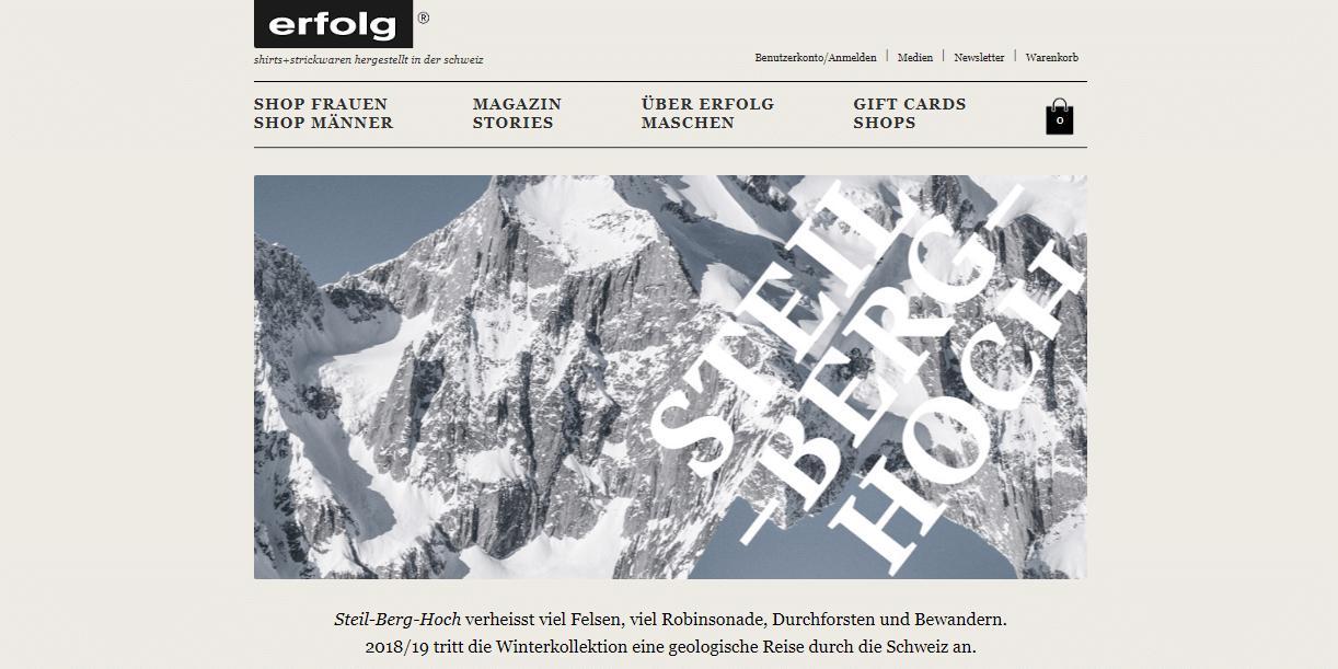 Screenshot Website erfolg