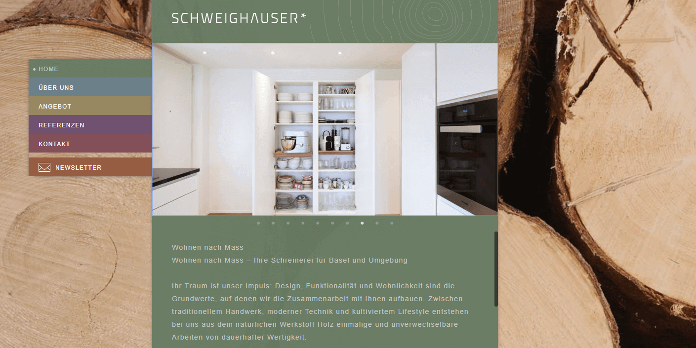Screenshot Website Schweighauser