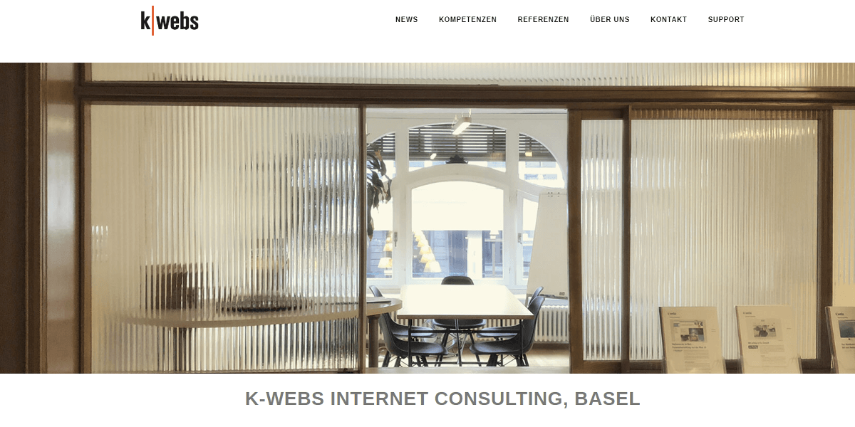 Screenshot Website k-webs.ch
