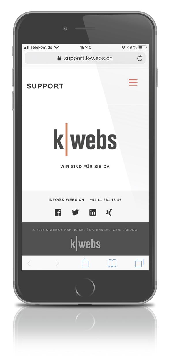 k-webs Support-App