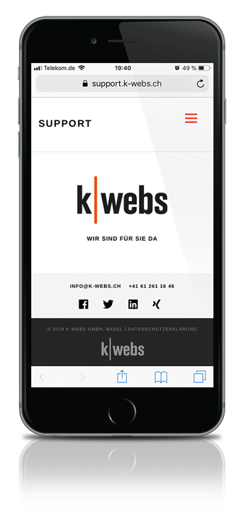 k-webs web app