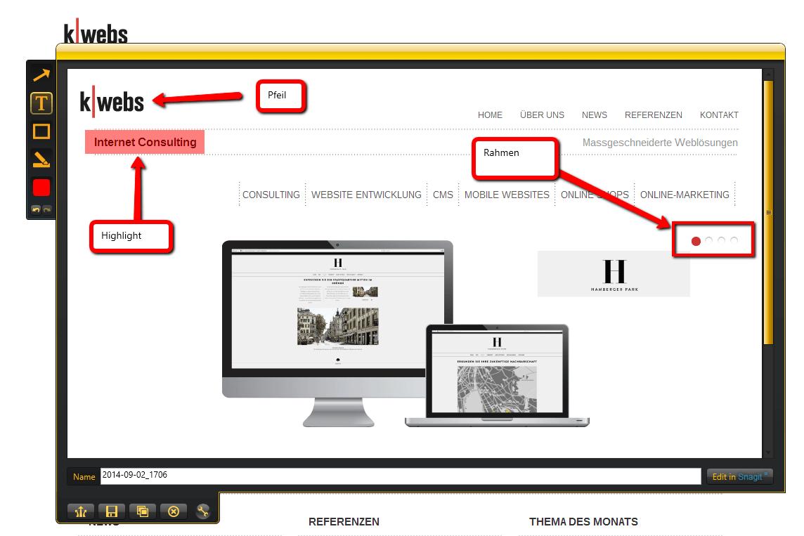 TdM Screenshots mit JING