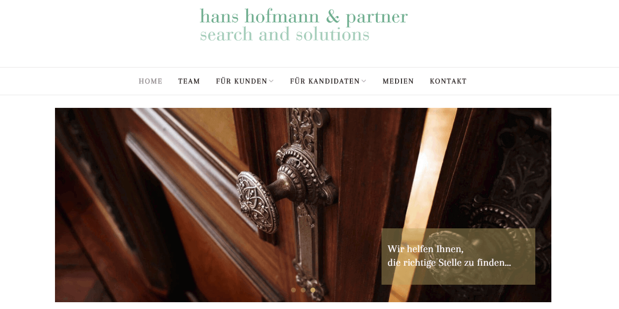 Screenshot Website hofmannmedia.ch