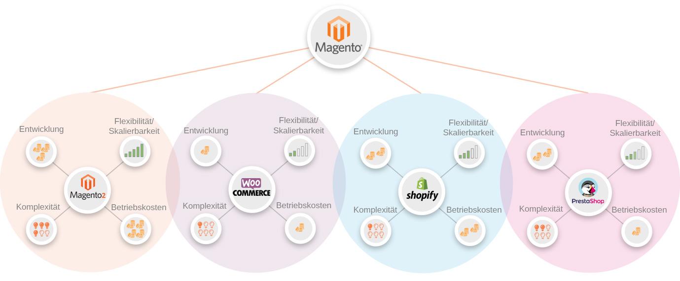 Infografik: Alternativen zum Magento 2 Upgrade
